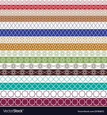 Border Patterns Beauteous Colorful Moroccan Border Patterns Royalty Free Vector Image