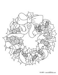 Small Picture Holly and candy wreath coloring pages Hellokidscom