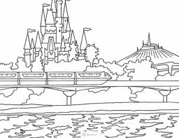 Magic Kingdom Monarail Space Mountain Cinderella S Castle