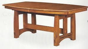 craftsman style furniture. THE AMERICAN BUNGALOW COLEBROOK TRESTLE DINING TABLE Craftsman Style Furniture
