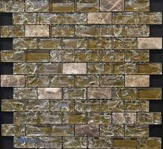 dark emperador marble and led glass mosaic tile mixes