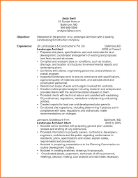 Landscaping Resume Resume Name