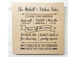 Personalised Kitchen Plaque Kitchen Rules Pure Essence Greetings