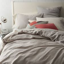 Belgian Flax Linen Duvet Cover + Shams | west elm &  Adamdwight.com