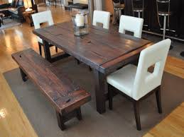 rustic kitchen table with bench dining room chair covers chic chairs for home 1024 768