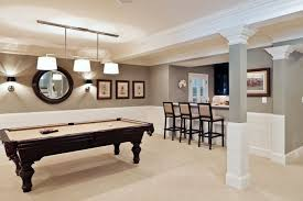 basement pool table. Exellent Basement Basement With Pool Table And Wall Sconces  Tips For Painting Walls In B