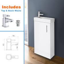 Bathroom Suites Ebay White Bathroom Vanity Unit Ceramic Basin Sink Oak Ebony Storage