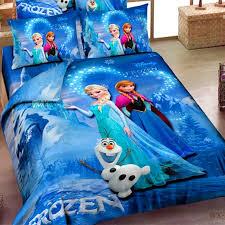 details about disney frozen anna elsa 100 cotton twin full quilt duvet cover bedding set blue