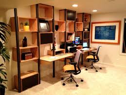 interesting home office desks design black wood. Modular Desks Home Office : Cool Design With Brown Wall Mounted Desk And Square Interesting Black Wood