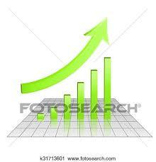 Business 3d Chart Of Growth Goal Achievement Clipart
