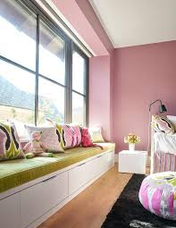 bedroom window seat cushions.  Bedroom Pink Girlu0027s Bedroom Features A Builtin Window Seat Fitted With Three  Drawer Which Is Topped Lime Green Velvet Bench Cushion As Well Pink And Gray  With Bedroom Window Seat Cushions T