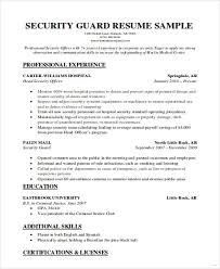 Security Officer Resume Format Resume Template Easy Http Www