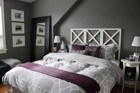 subtle grey and purple bedroom