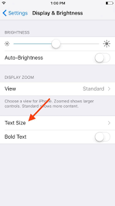 how to change text size how to change text size on your ipad iphone or ipod touch ios
