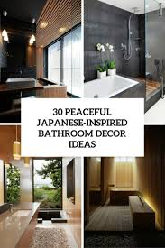 bathroom decor ideas. Home Designs:Bathroom Decorating Ideas 30 Peaceful Japanese Inspired Bathroom Decor Cover F