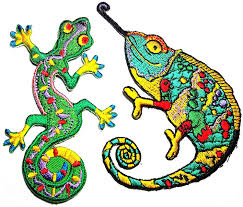 Amazoncom 2 Pcs Tribal Lizard Patch Gecko Symbol Salamander