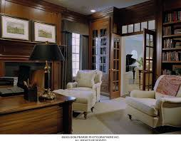 pottery barn home office. Contemporary Home Office With Crown Molding, French Doors, Pottery Barn Clara Armchair, Transom