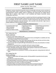 Real Estate Resume Sample | Sample Resume And Free Resume Templates