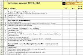 help desk service level agreement template service level agreement checklist