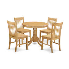 Anno5 Oak 5 Piece Dinette Table Set Small Kitchen Table And 4