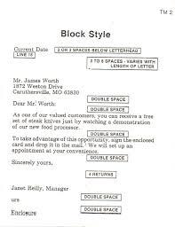 Block Business Letter Format Example Granitestateartsmarket Com