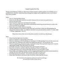 How To Write A Birth Plan Examples 47 Printable Birth Plan Templates Birth Plan Checklist