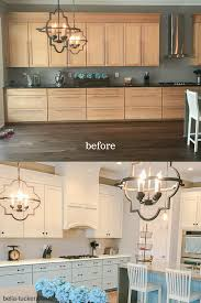 before and after painted cabinets
