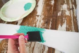 diy foam frame paint foam