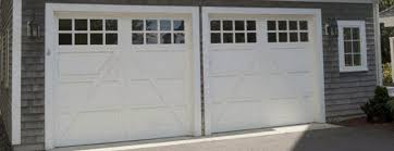 white wood garage door. Carriage House Style White Wood Garage Doors With Windows Door