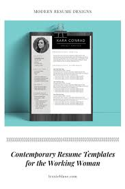 Modern Resume Template For The Career Woman Professional Resume Builder Resume Template With Photo Cool Downloadable Resume Template