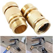 garden hose quick connector ¾ inch ght brass easy connect