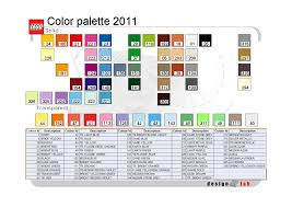 Lego Brick Colour Chart The Internal Lego Colour Scheme General Lego Discussion