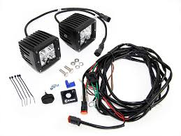 kc wiring harness kc hilites c3 led spot beam 3 light bar quadratec