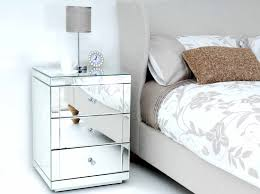 Mirrored Side Tables Bedroom Table Mirrored Bedside With Drawers Tables Atourisma