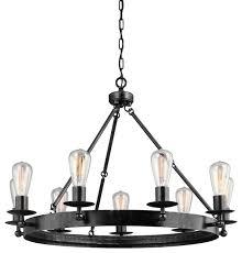 seagull 3110209 846 raenwood manor 9 light round chandelier stardust industrial chandeliers by hansen whole