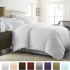 com ienjoy home hotel collection luxury soft brushed 1800 series microfiber duvet cover set hypoallergenic king cal king white home kitchen