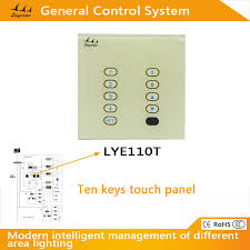 10 keys touch panel for led universal lighting controller system