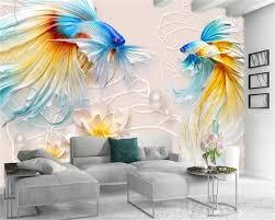 3d Home Wallpaper Beautiful Goldfish ...