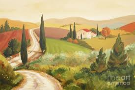 landscape painting rural italian landscape iii by leigh banks