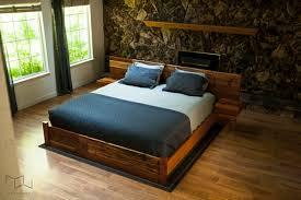 reclaimed wood bed frame. Floating King Bed Frame Awesome Mez Works Furniture Meyers Reclaimed Wood Home Interior 21