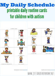 Daily Routine Chart For 9 Year Old Free Printable Daily Schedule For Children On The Autism