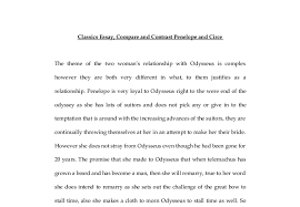 classics essay compare and contrast penelope and circe gcse  document image preview