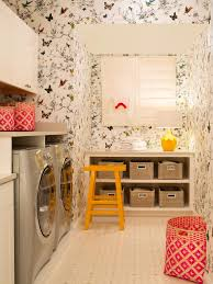 Laundry Room Wallpaper Designs 10 Clever Storage Ideas For Your Tiny Laundry Room Hgtvs