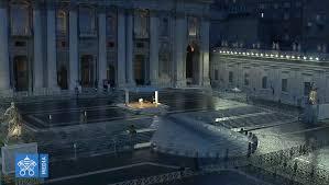 002 benedizione urbi et orbi papa francesco 27 03 2020 » Stadio Ennio  Tardini Parma