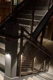 stairwell lighting. led lighting in hotel stairwell