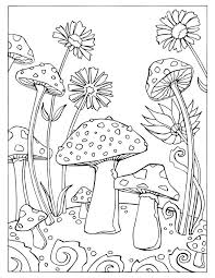 mushroom coloring pages snail mushrooms page book for toddlers mu