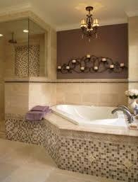 Bathroom Design Ideas, Antique Chandelier Hanging Lamp Corner Tub Bathroom  Designs Additional Wall Decor Curvy