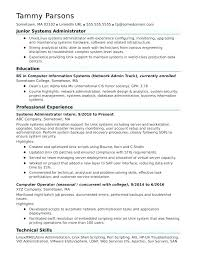 Sample Resume System Administrator Systems Administrator Resume