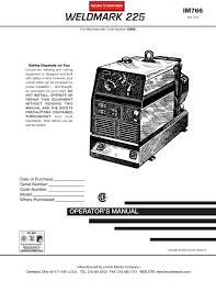 Lincoln Electric 225 Welder User Manual Manualzz Com