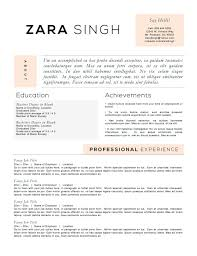 Accomplishments For Resume Free Resume Templates 2018